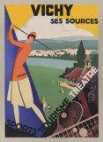 Vichy/Ses Soursec Reproduction d'art par Roger Broders