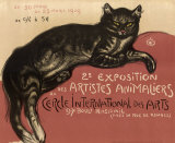 Chat Reproduction d'art par Théophile Alexandre Steinlen