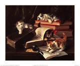 Jeux de chatons Reproduction d'art par Alfred Brunel De Neuville