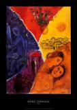 Joie Reproduction d'art par Marc Chagall