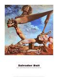 Construction molle avec haricots bouillis Reproduction d'art par Salvador Dalí