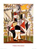 Femme au jardin Reproduction d'art par Pablo Picasso