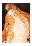 Eve et Adam Reproduction d'art par Gustav Klimt