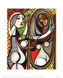 Jeune fille devant un miroir, 1932 Reproduction d'art par Pablo Picasso