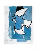 L'oiseau bleu et gris Reproduction d'art par Georges Braque