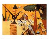 Terre Labouree 1923 Reproduction d'art par Joan Miró