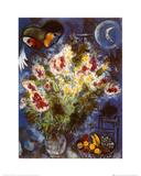 Nature morte aux fleurs Reproduction d'art par Marc Chagall