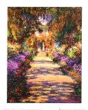 Une allée du jardin de Monet, Giverny Reproduction d'art par Claude Monet