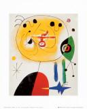 Et fixe les cheveux d'une étoile Reproduction d'art par Joan Miró