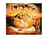 Enfant géopolitique observant la naissance de l'homme nouveau Reproduction d'art par Salvador Dalí