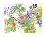 Coquelicots Et Iris Reproduction d'art par Raoul Dufy