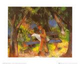 Lesender Mann in Park  c1914