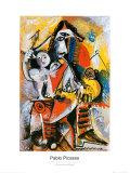 Mousquetaire et Amour Reproduction d'art par Pablo Picasso