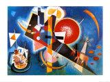 En bleu (1925) Reproduction d'art par Wassily Kandinsky