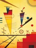 Structure joyeuse Reproduction d'art par Wassily Kandinsky