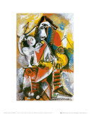 Mousquetaire et Amour Reproduction d'art par Pablo Picasso