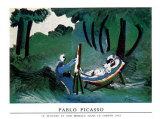 Peintre et son modèle Reproduction d'art par Pablo Picasso