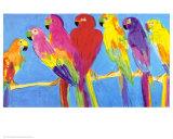 Parrots in Blue