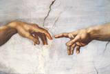 Creation of Adam Detail Hands Reproduction d'art par Michelangelo Buonarroti