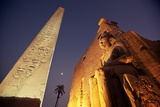 Ramses Statue and Obelisk at the Entrance to the Luxor Temple Complex