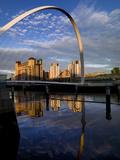 Gateshead Millennium Bridge  Newcastle Upon Tyne in England