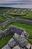 Ancient Stone Walls Pattern the Landscape on the Island of Inisheer