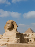 The Great Sphinx and Pyramids of Giza on a Sunny Day