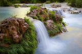 Havasu Creek Rushes Over Falls in Havasu Canyon