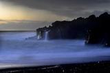 The Atlantic Ocean and Cliffs at Selatangar at Sunset