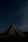 The Step Pyramid  El Castillo  at Chichen Itza Under a Star Filled Sky