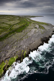 Atlantic Waves Crash Against Inishmaan's Rock Cliffs