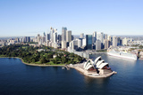 An Aerial View of Sydney with the Opera House