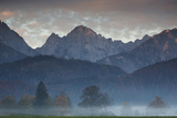 Mountains Around Schwangau in the Autumn Mist
