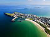 Aerial View Over Portrush  Northern Ireland