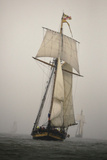The Pride of Baltimore in a Rain Squall in a Schooner Race