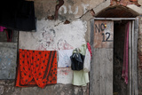 Colorful Laundry Brightens a Home in a Lane Near the Kalighat Temple