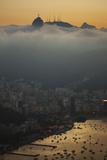 Christ the Redeemer Statue Above Rio De Janeiro at Sunset