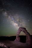 The Milky Way and Delicate Arch in Arches National Park