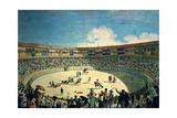 Bullfight At the Old Madrid Plaza  1802  Spanish School