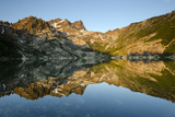 Sunrise on the Sierra Buttes Reflecting in Glassy Upper Sardine Lake