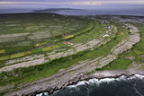 Ancient Stone Walls Pattern Inishmaan Enveloped in the Atlantic