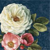 Floral Damask II on Indigo