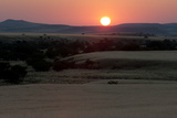 The Sun Sets Over Grasslands and Hills in the Torra Conservancy