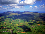 Aerial View Over the Mourn Mountains in Northern Ireland