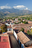 A Roof Top View of Trinidad's Tile Roofs and Surrounding Countryside