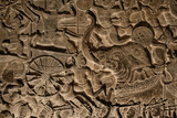 A Close Up of Sandstone Bas Relief in Angkor Wat