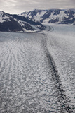 Moraine Lines at the Joining of Hubbard and Valerie Glacier