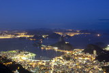 Rio's Skyline at Night From Sugar Loaf Mountain