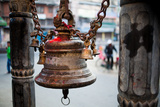 A Bell Adorns a Hindu Shrine