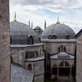 The Blue Mosque Viewed Over the Domes of the Hagia Sophia